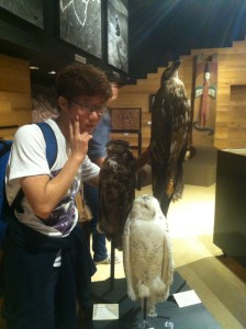 Me posing with Hogwarts Owls